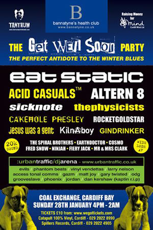 poster for Get Well Soon Party on 28 January 2007